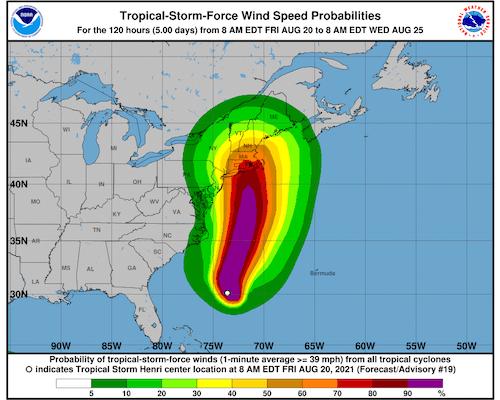 Henri Forecast To Become Hurricane, Make Landfall In The Northeastern United States