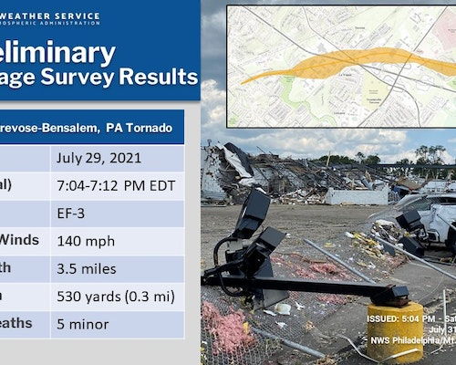 Cleanup Continues After EF3 Tornado in Bucks County, Pennsylvania