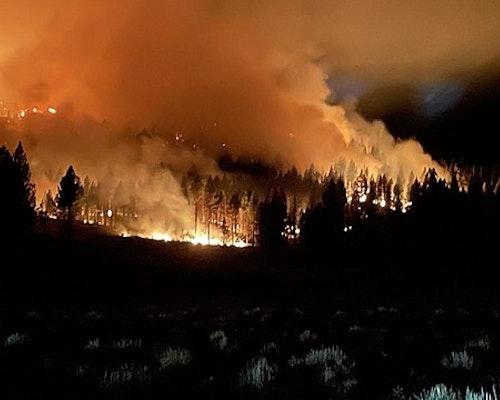 Wildfire Burns Through Historic California Town